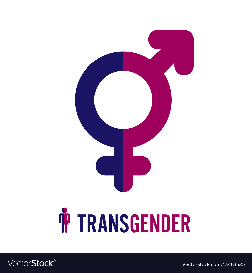 Transgender icon symbol combining gender symbols vector image