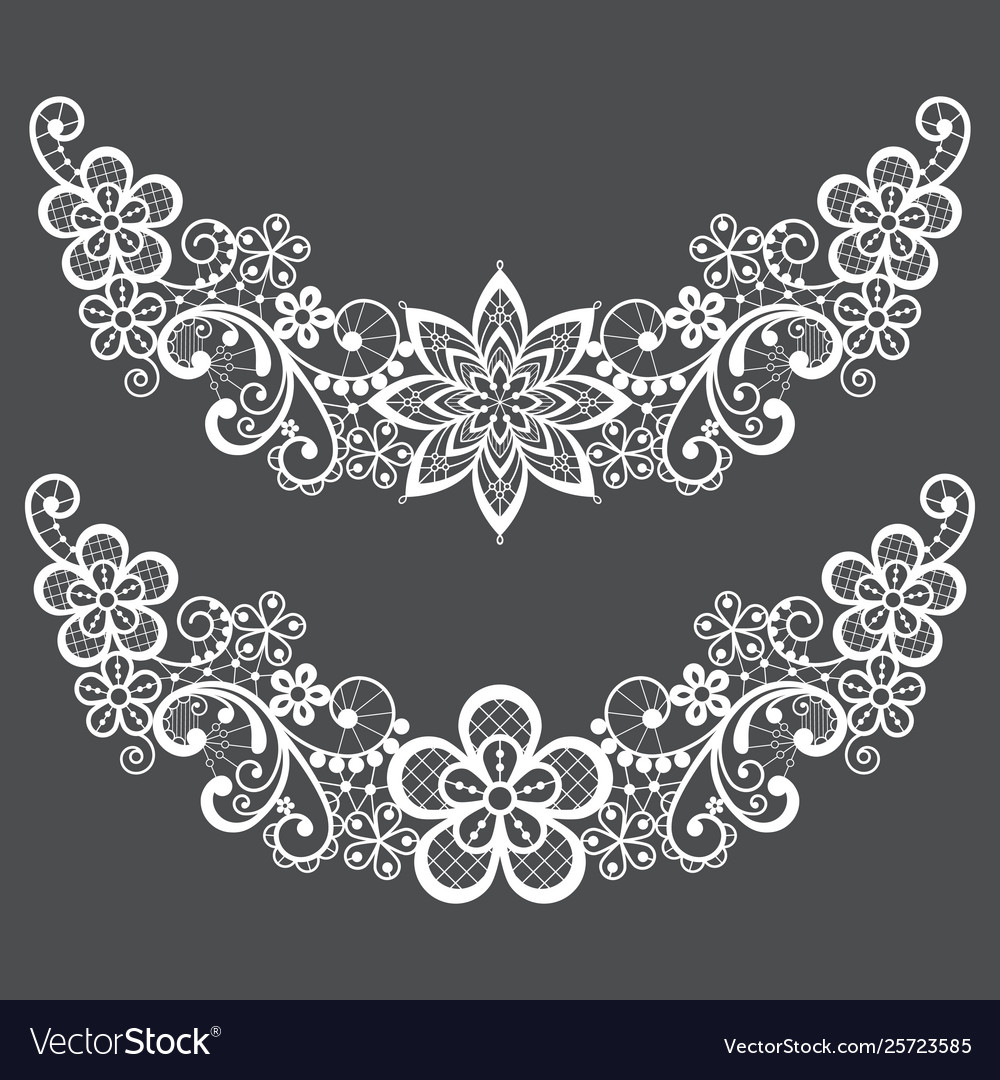 Vitnahe lace half wreath single pattern set