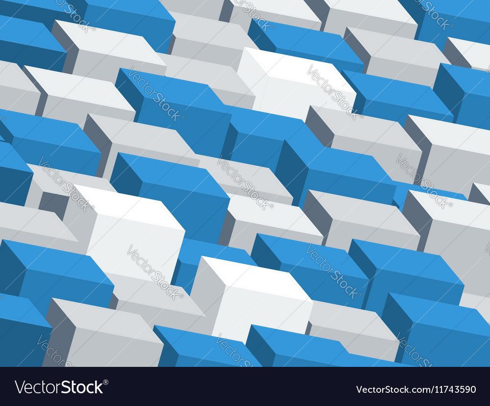 Abstract backdrop with random cubes