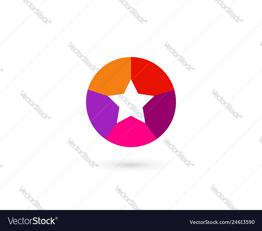 Abstract business logo icon design with star