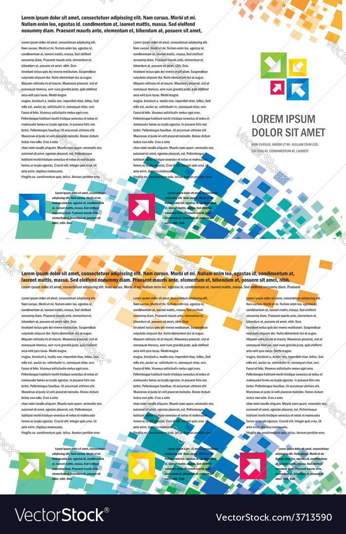Brochure Tri Fold Layout Design Template Geometric