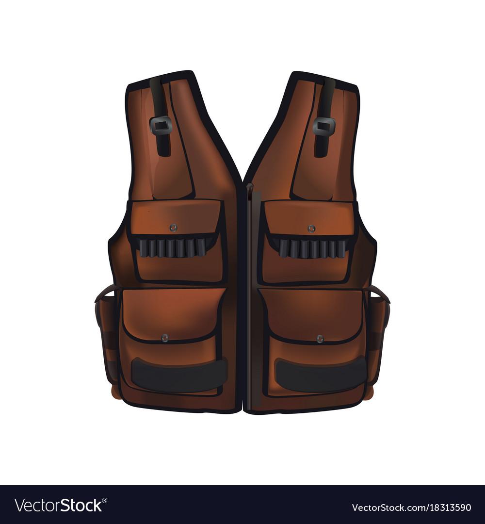 Brown hunter vest