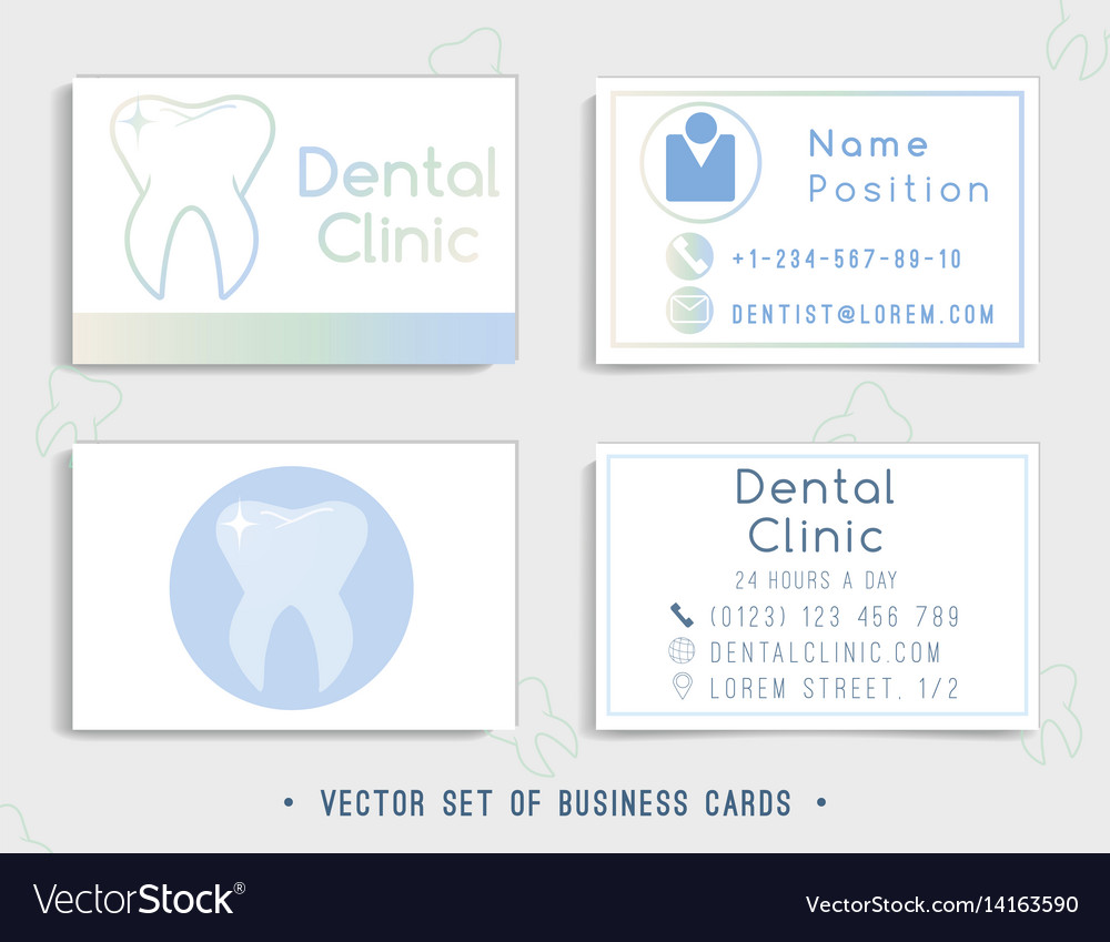 Dental business card template design royalty free vector dental business card template design vector image flashek Images