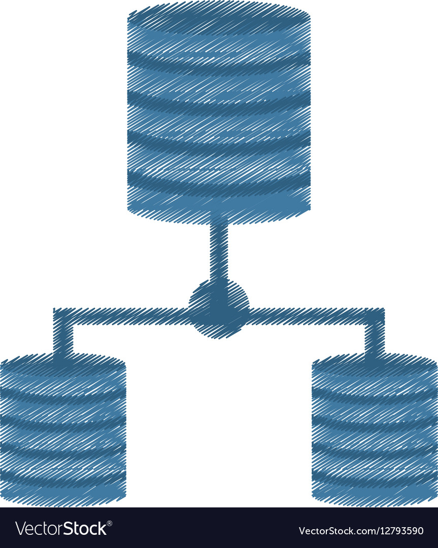 Drawing data center information digital vector image