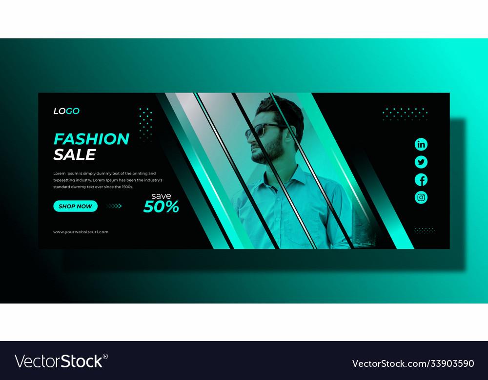 Fashion sale promotional facebook cover design