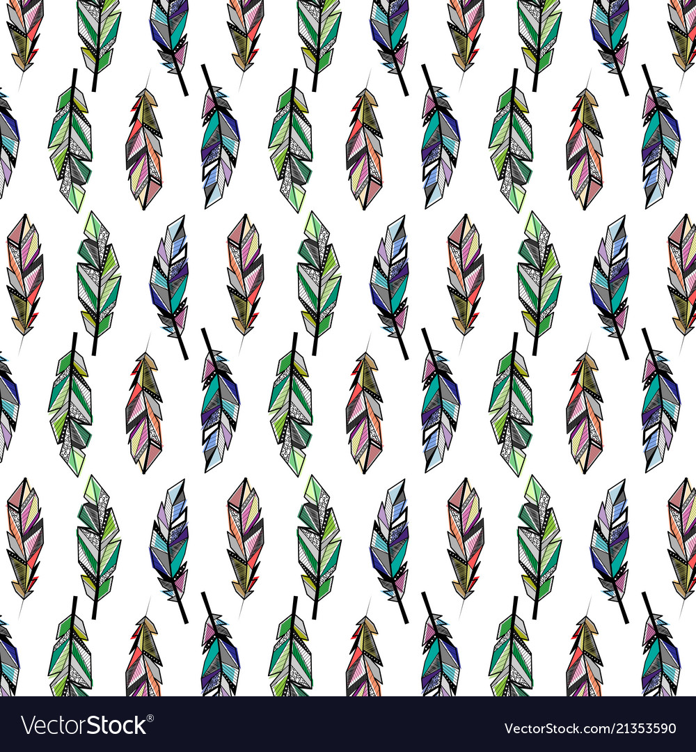 Feathers Color Wallpaper