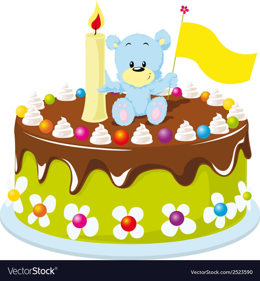 Happy Birthday Cake Royalty Free Vector Image Vectorstock