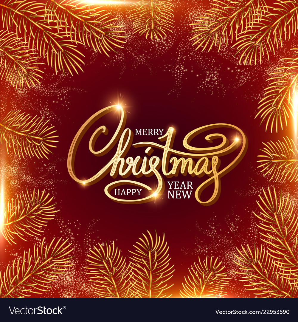 Merry christmas elegant design template with