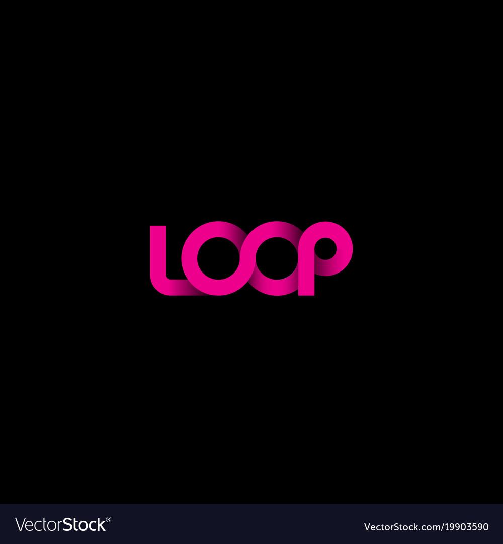 Pink loop logo vector image