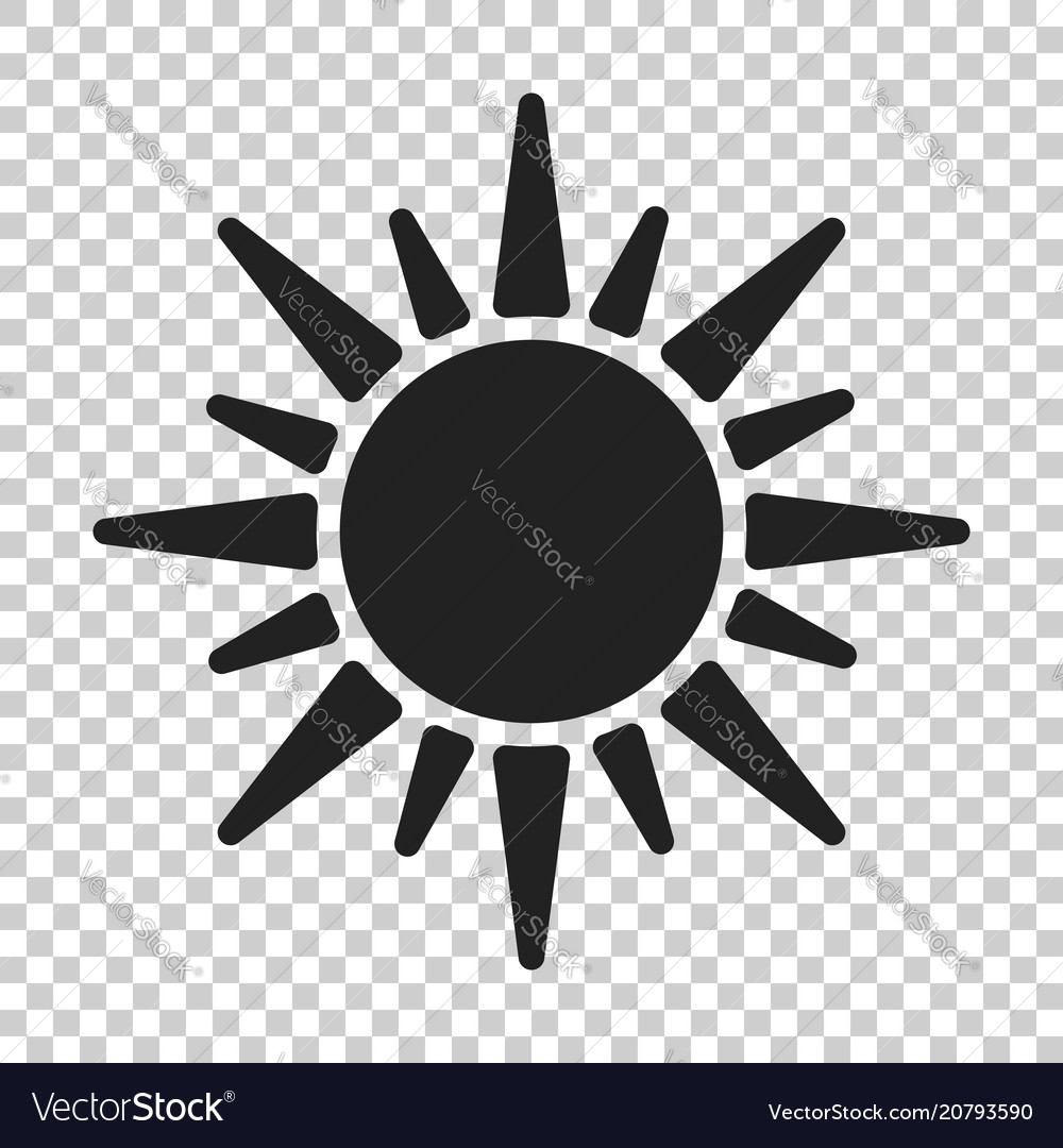 sun icon summer sunshine on isolated transparent vector image vectorstock
