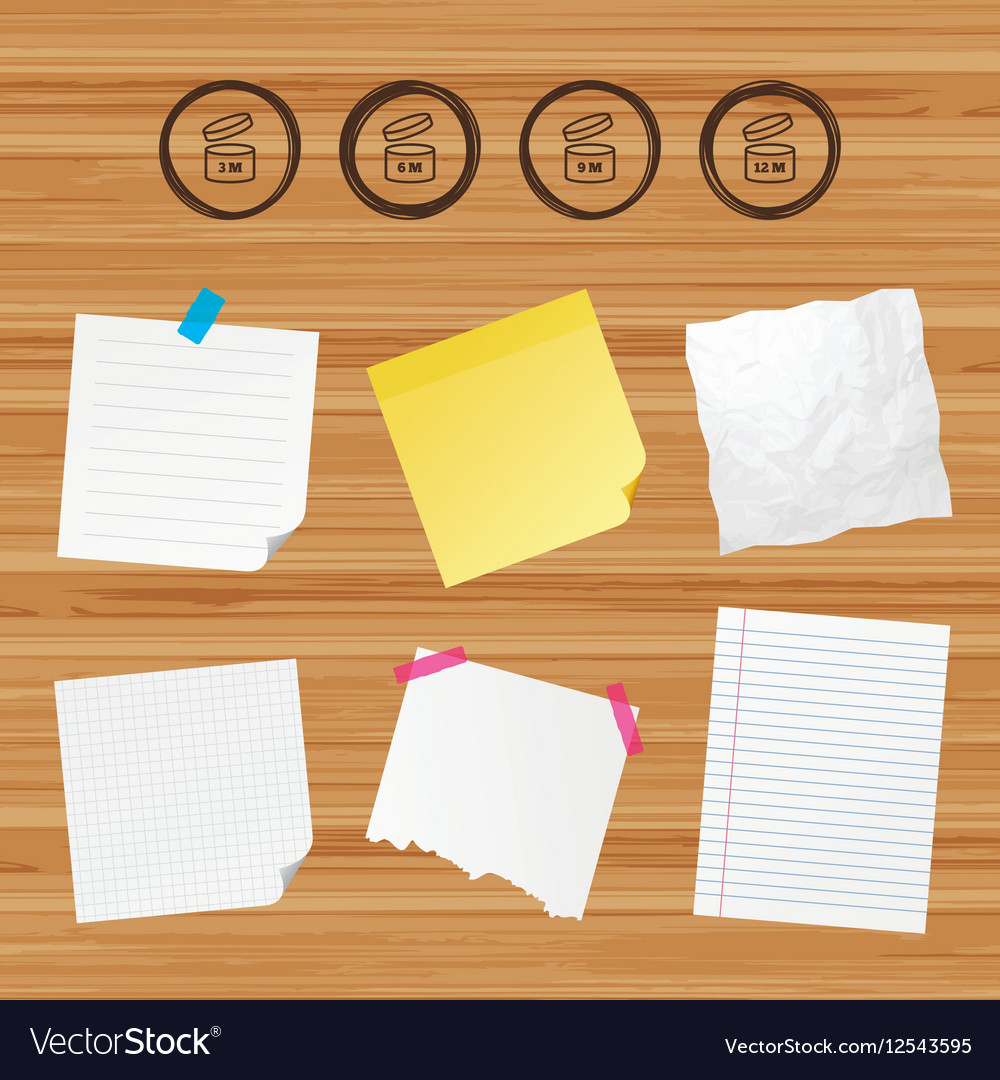 After opening use icons Expiration date product vector image