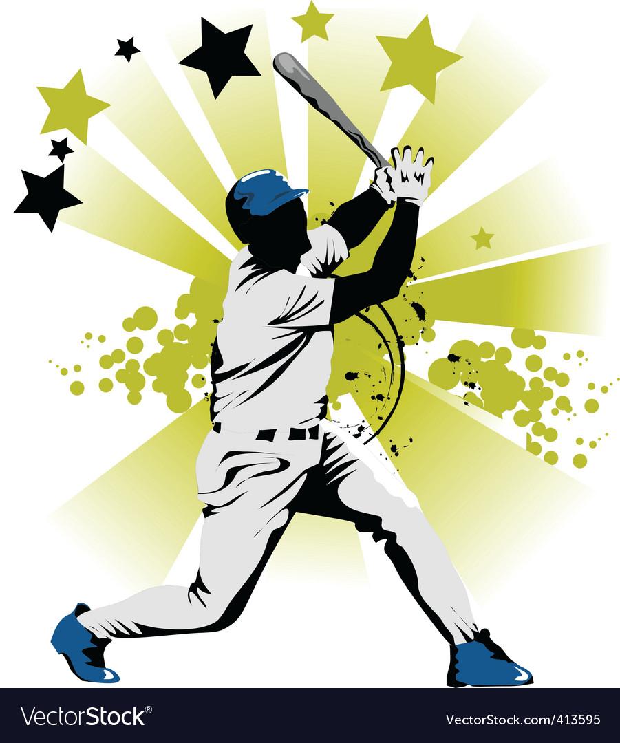 Baseball star vector image