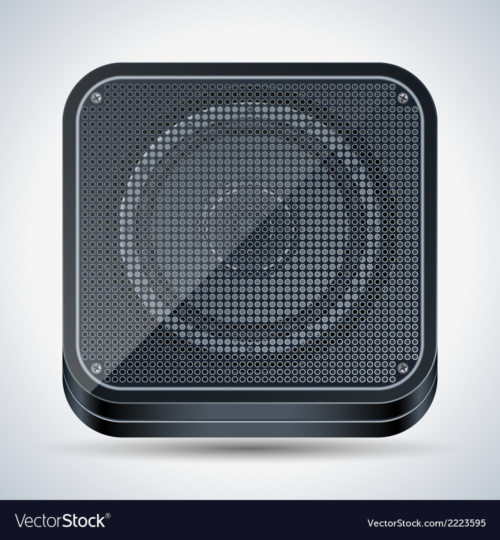 Black loudspeaker icon