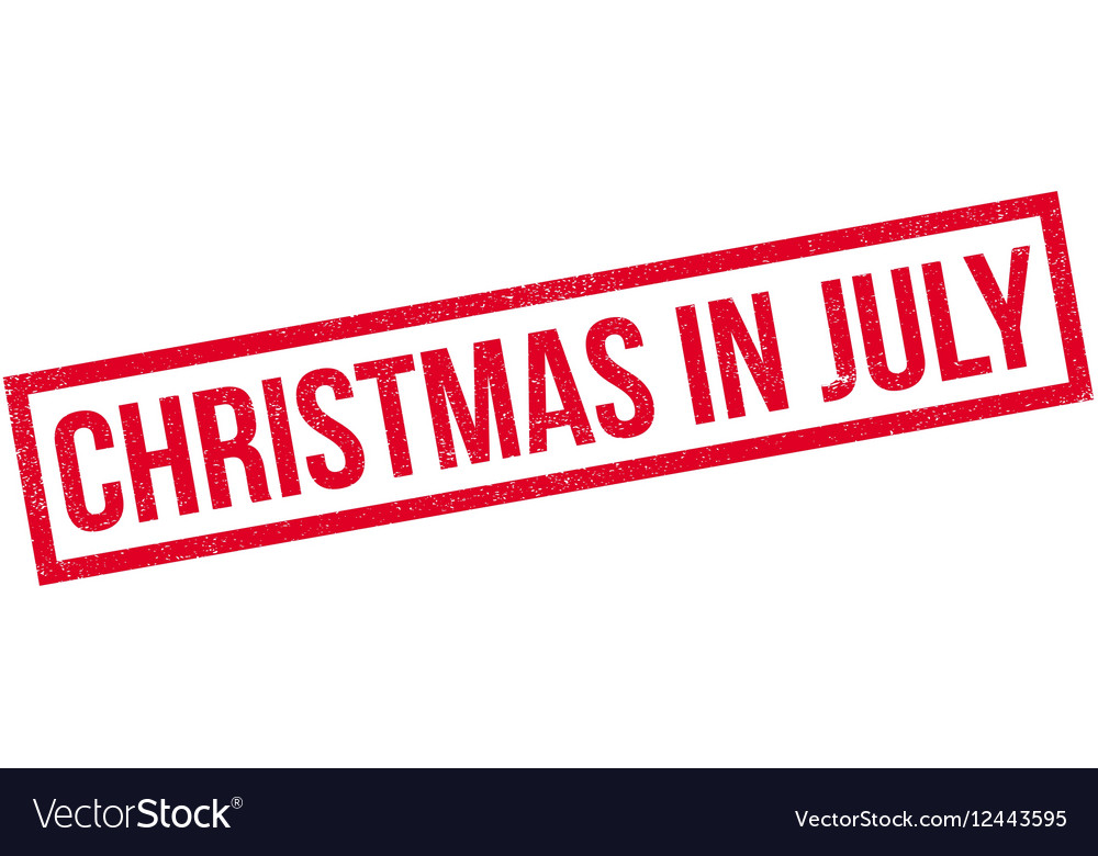 Christmas In July Free Image.Christmas In July Rubber Stamp
