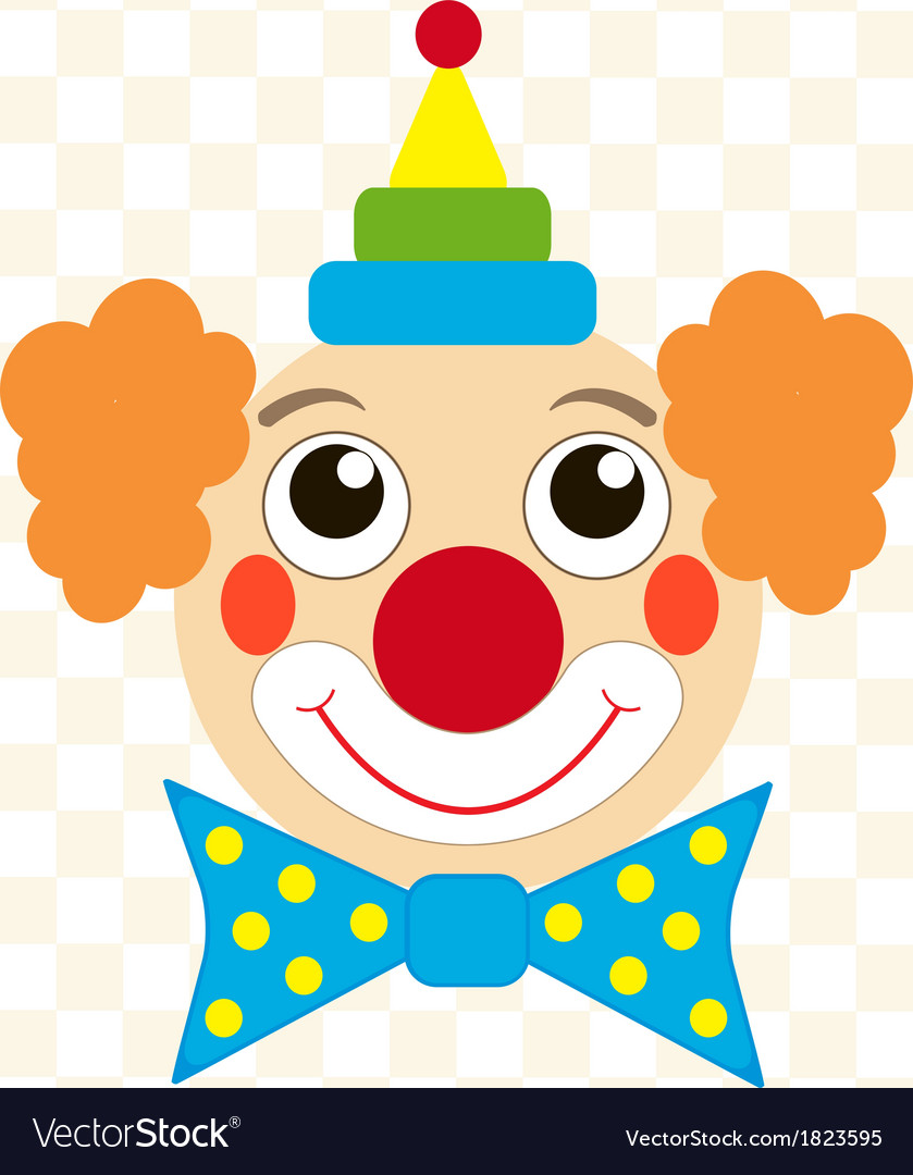 Clown face vector image