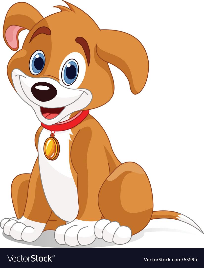 cute dog royalty free vector image vectorstock rh vectorstock com vector dog bowl vector dog bowl