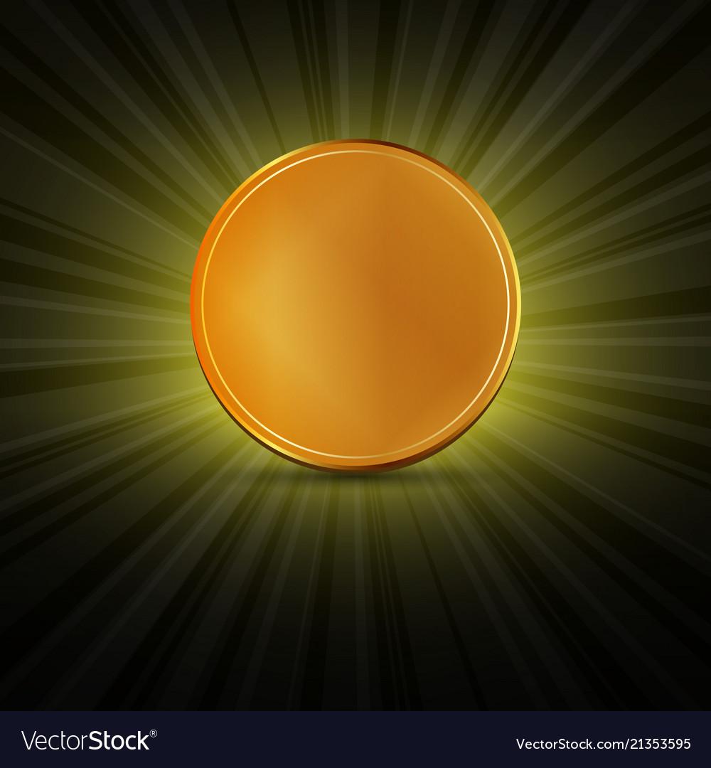 Golden coin lights