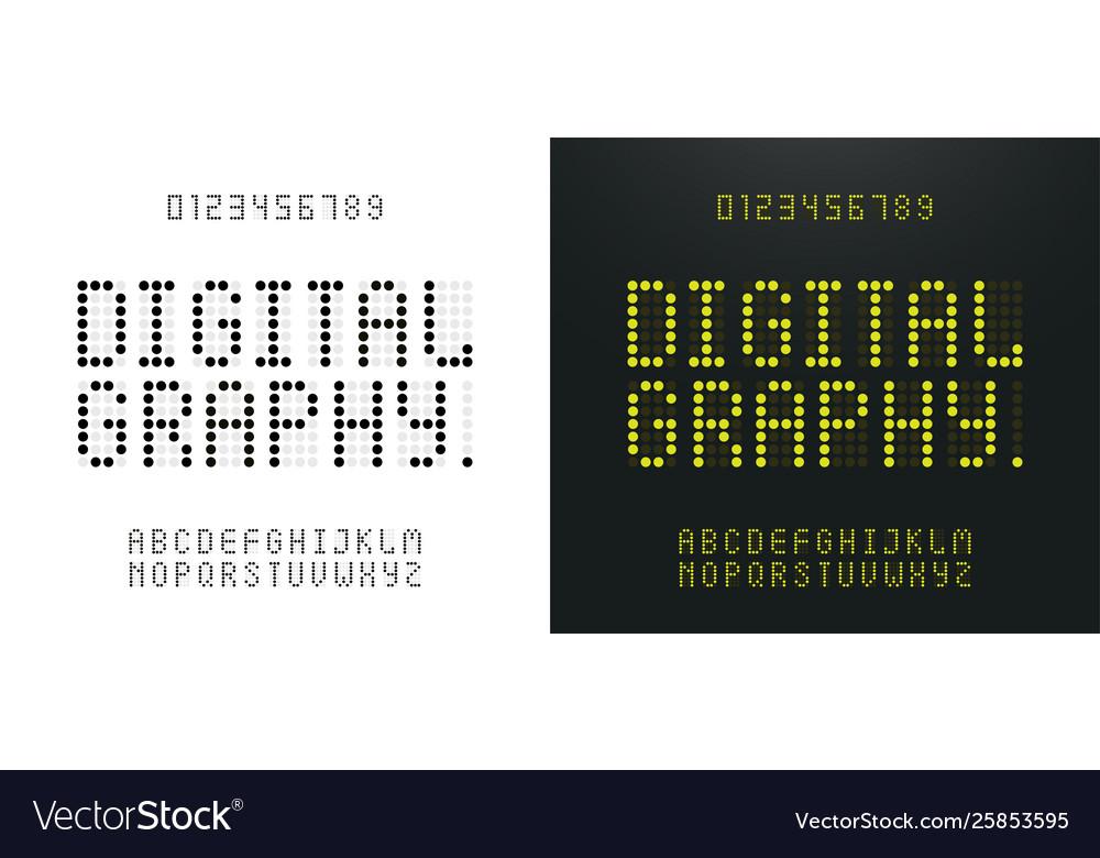 Green alphabet and numbers led digital alphabet