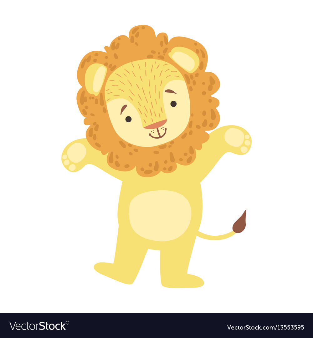 Lion cute toy animal with detailed elements part