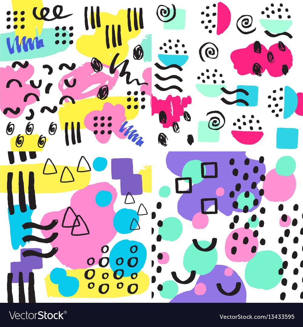 Universal memphis seamless pattern endless