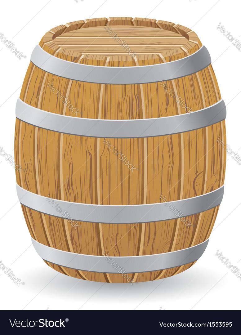 Wooden barrel 01 vector image
