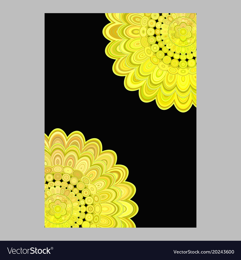 Abstract floral mandala brochure background vector image