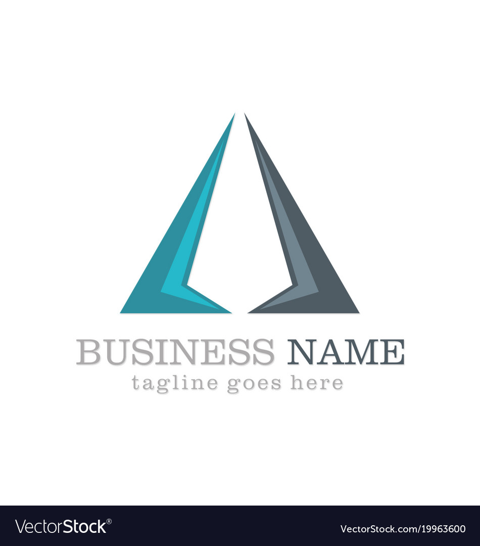 Business triangle company logo