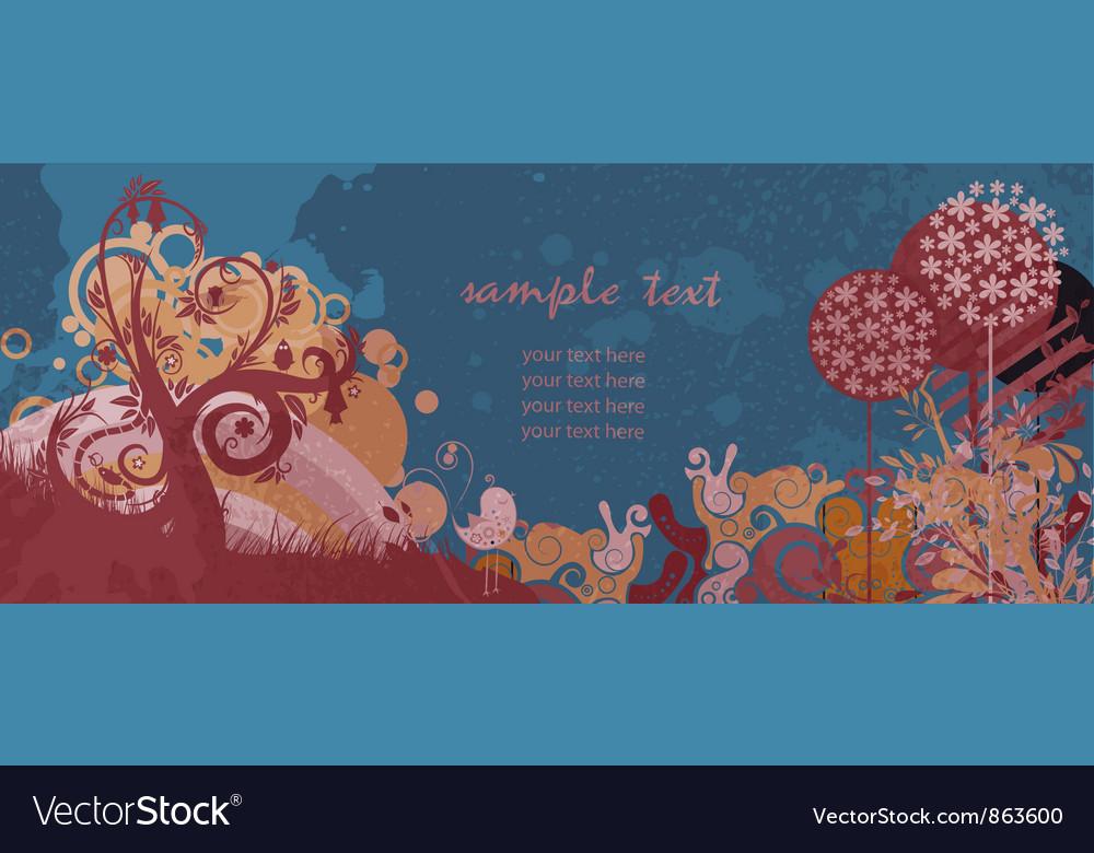 Colorful grunge floral background