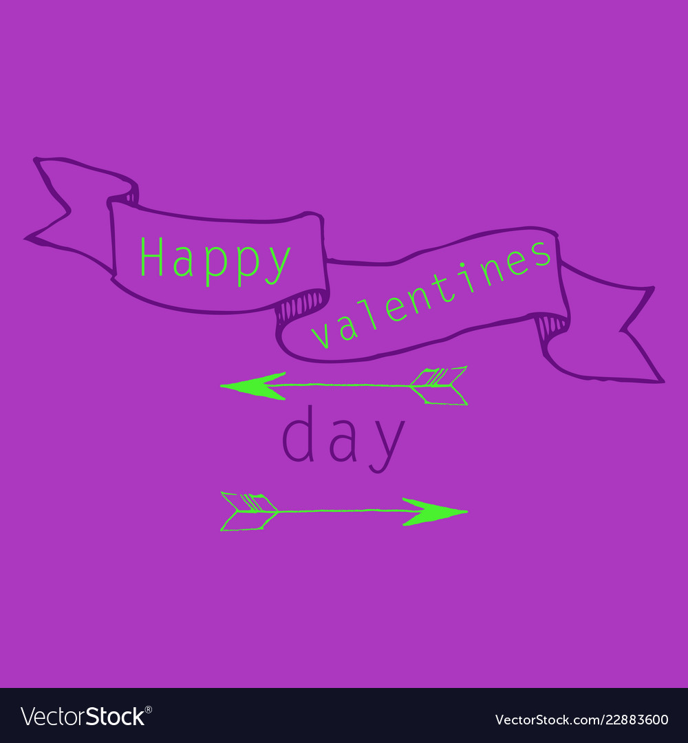 Hand Drawn Valentines Day Ornaments Abstract Icon Vector Image