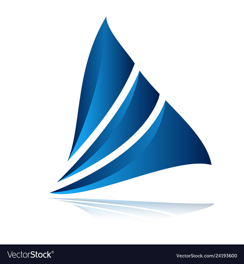Modern sail logo