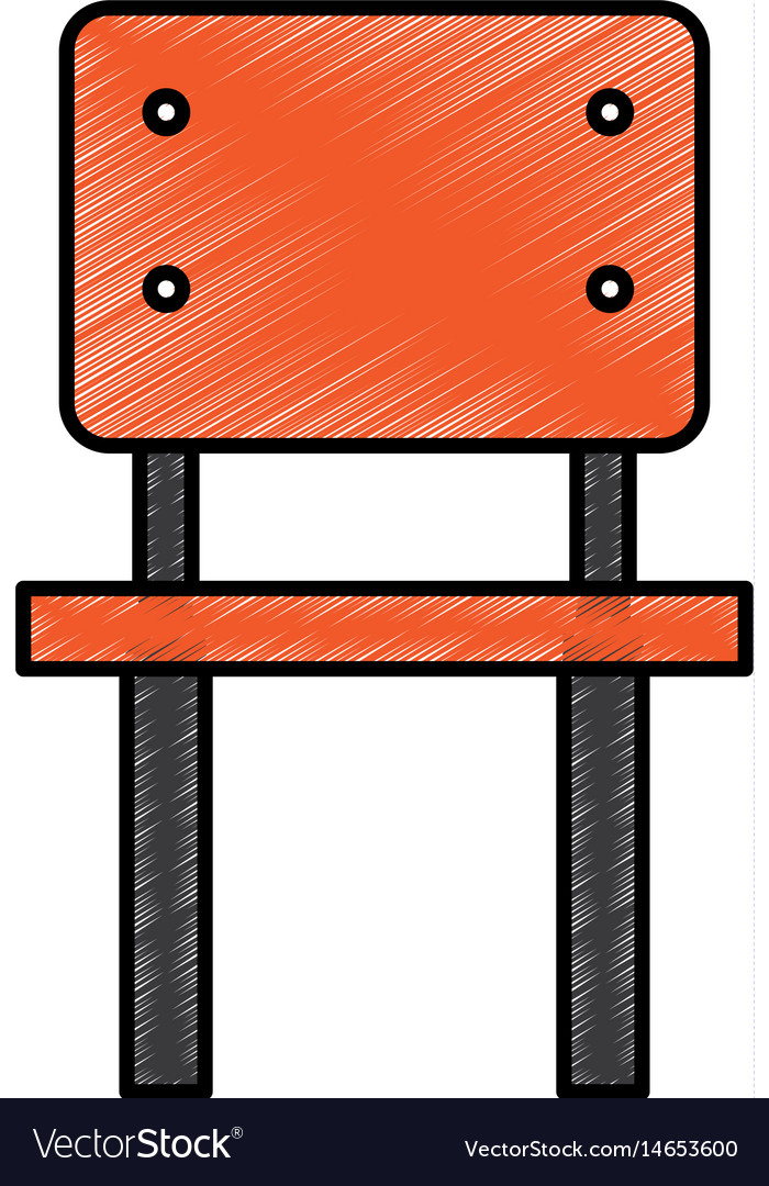 School chair isolated icon