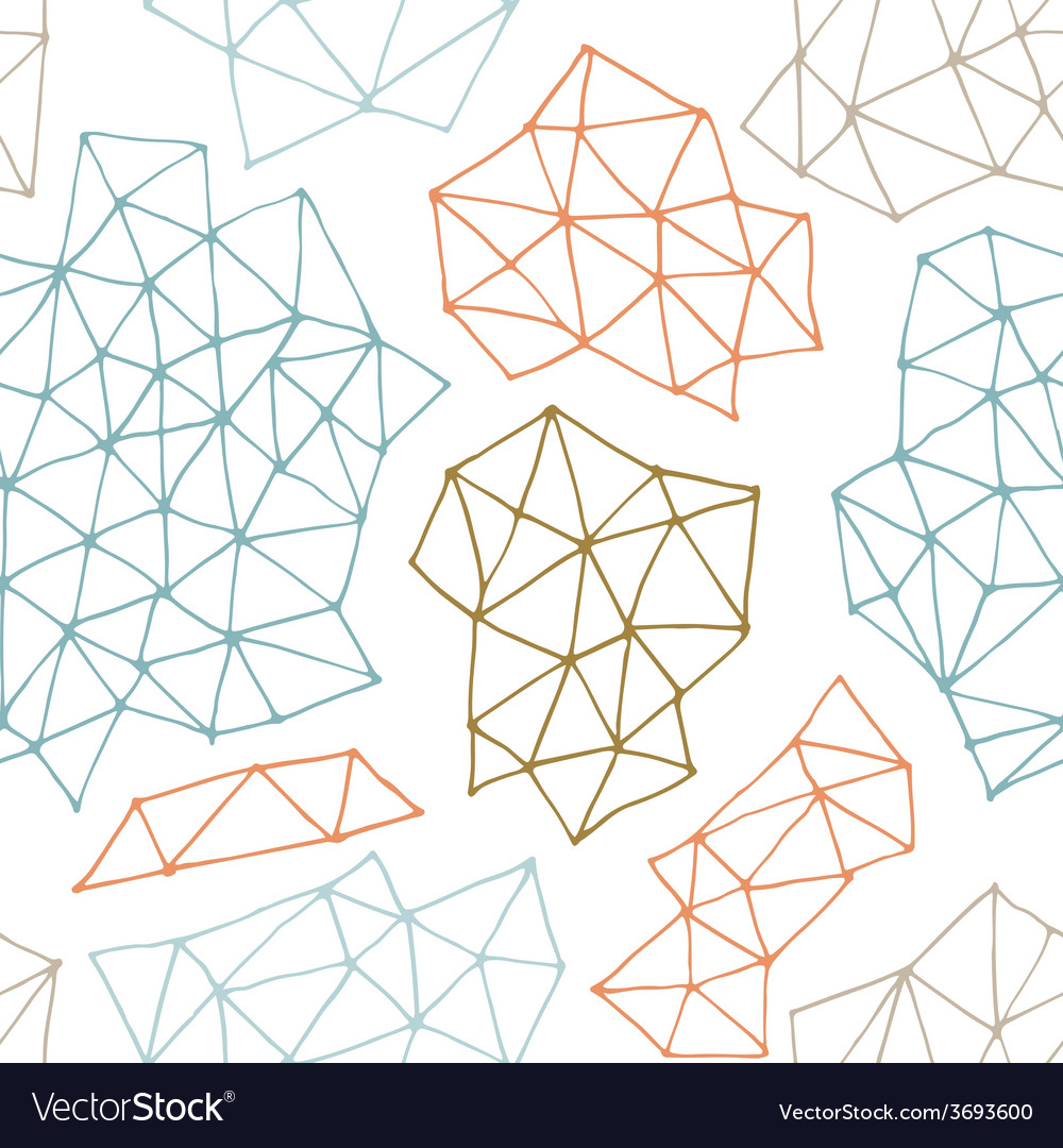 Seamless pattern with outline geometrical