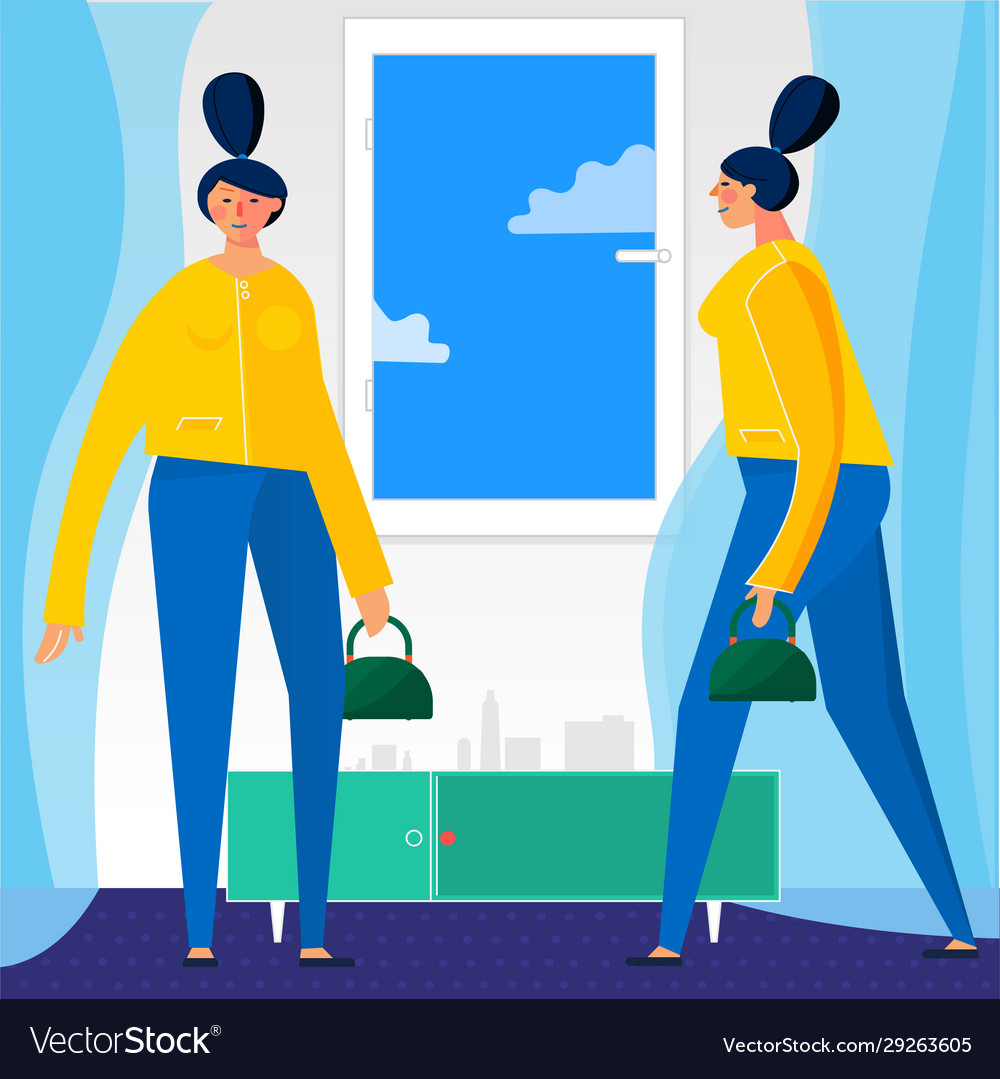 Character design flat trendy persons