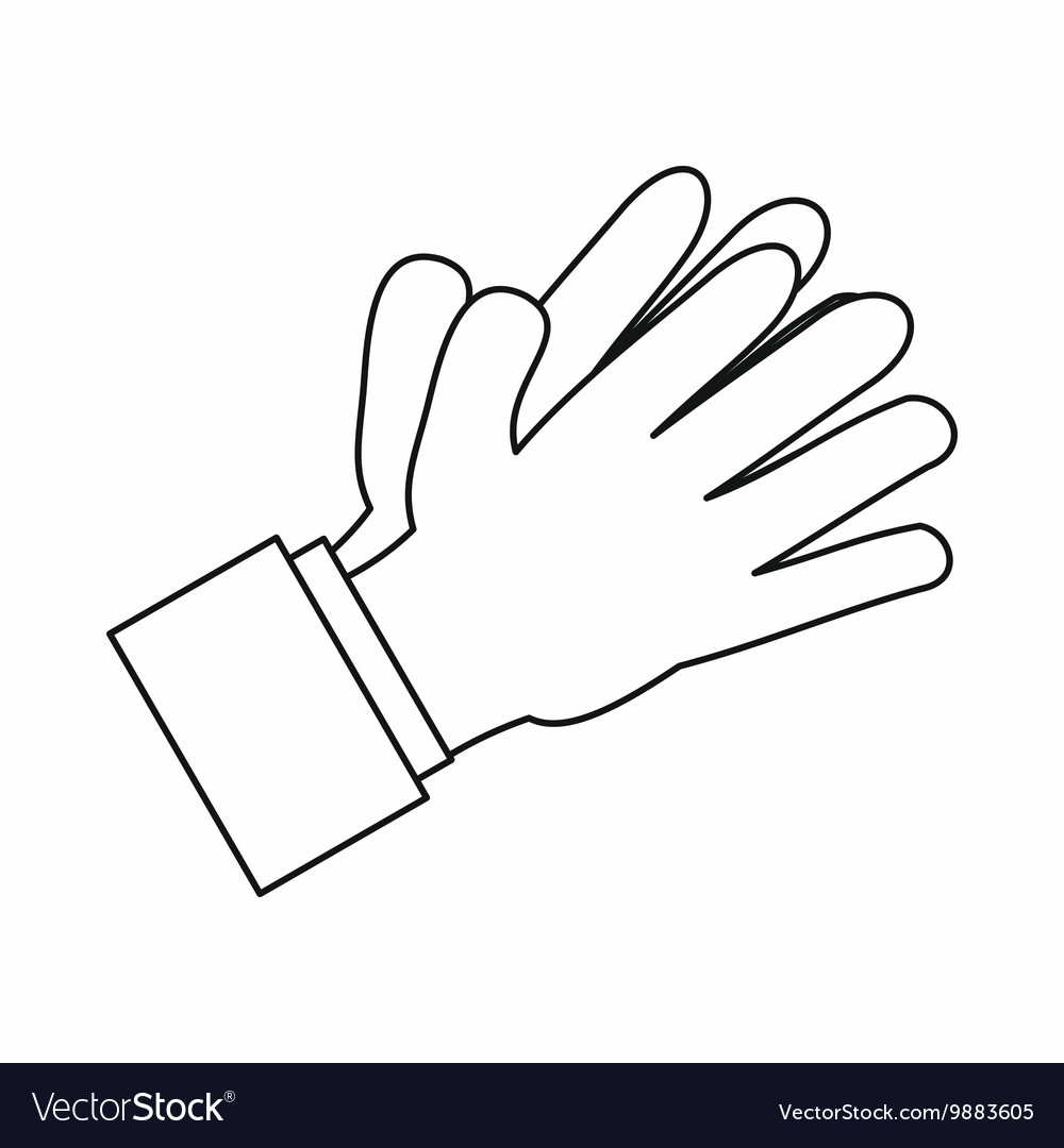 Clapping applauding hands icon outline style
