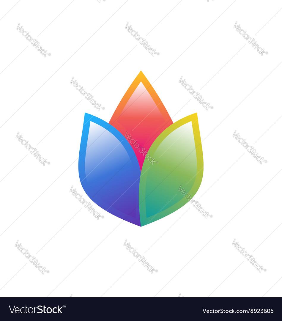 Lotus flower logo symbol health yoga icon design