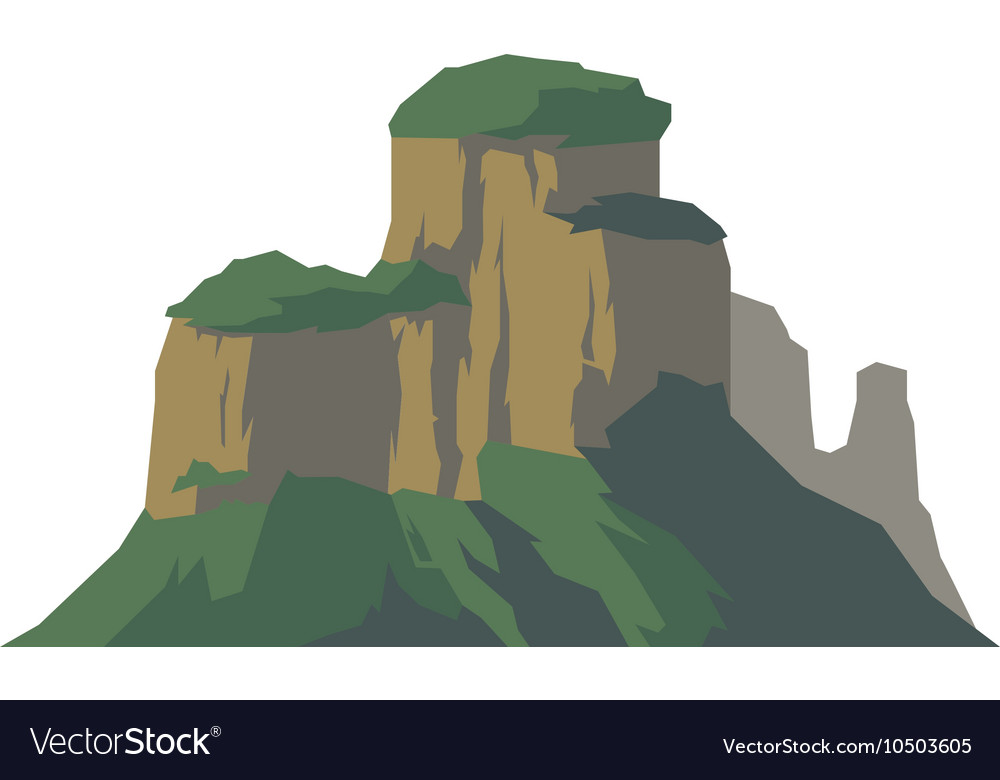 Mountain isolated