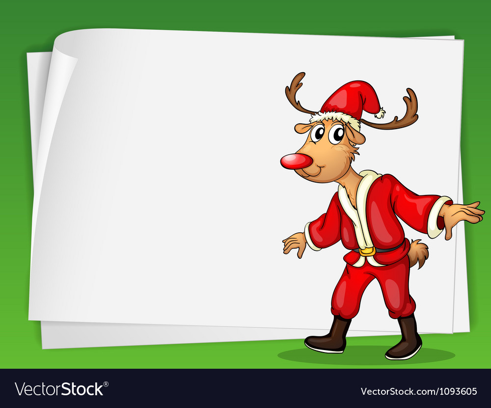 Reindeer card vector image