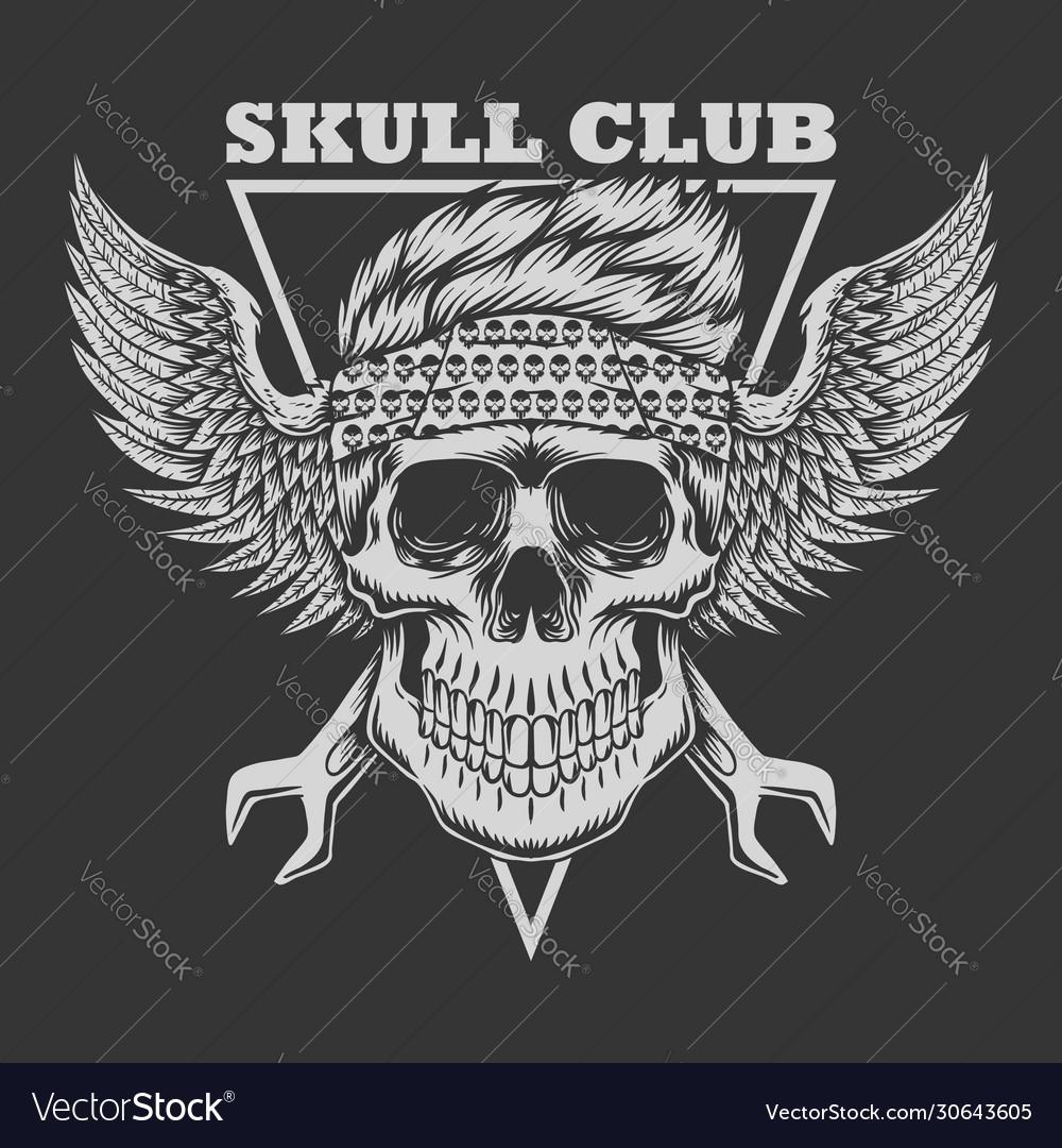 Skull club biker