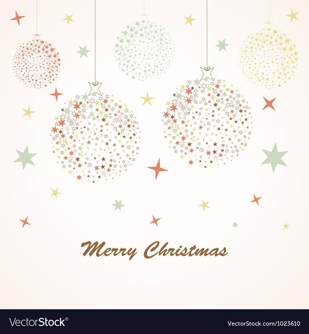 Christmas background retro vector image