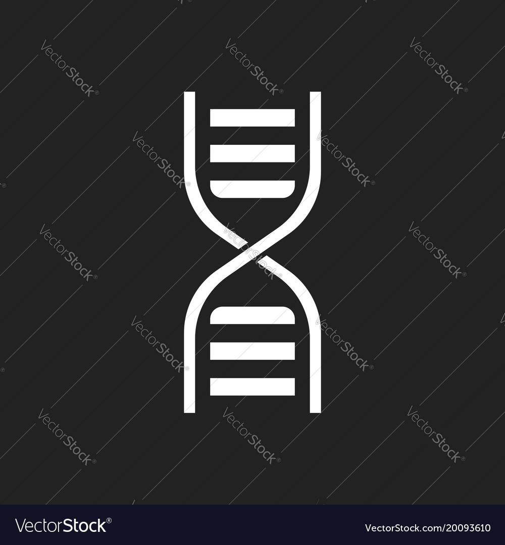Dna icon medecine molecule flat