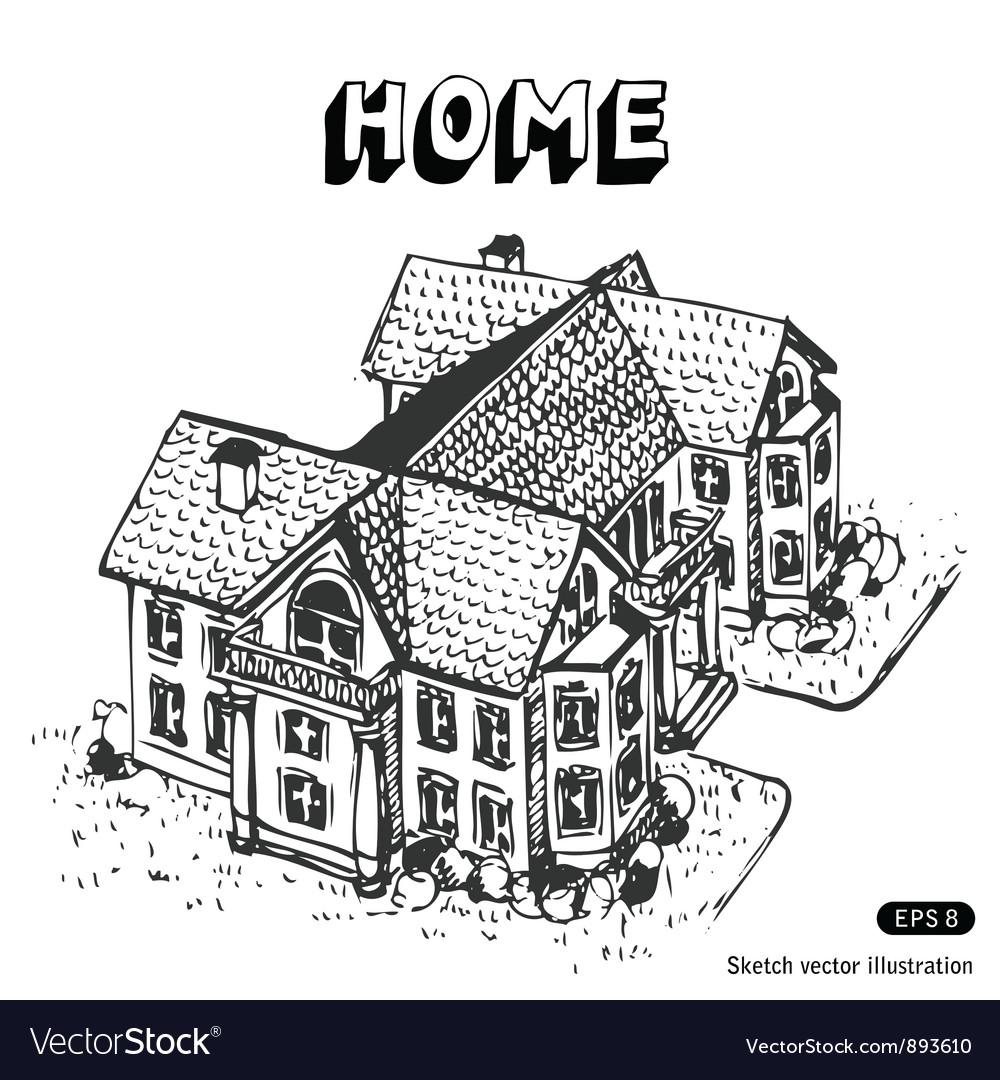 Luxury home vector image