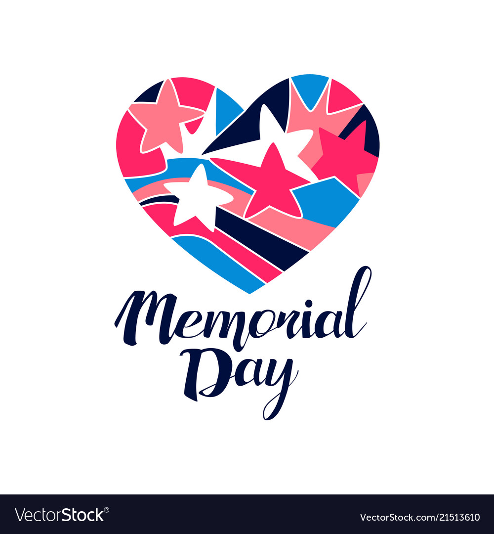 Memorial day logo creative template for greeting