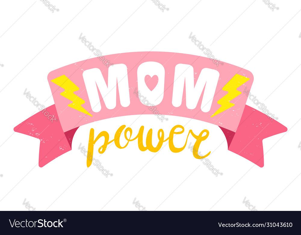 Retro emblem for mother