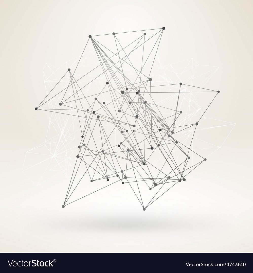 Wireframe Polygonal Element Abstract 3D Object