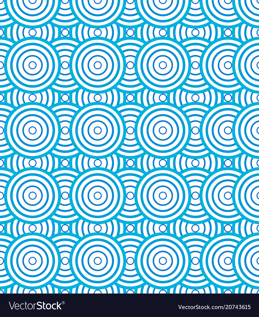 Abstract circles spiral pattern blue and white