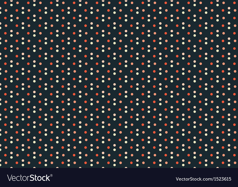 Dark Blue Multi-Color Polka Dots Seamless Pattern vector image
