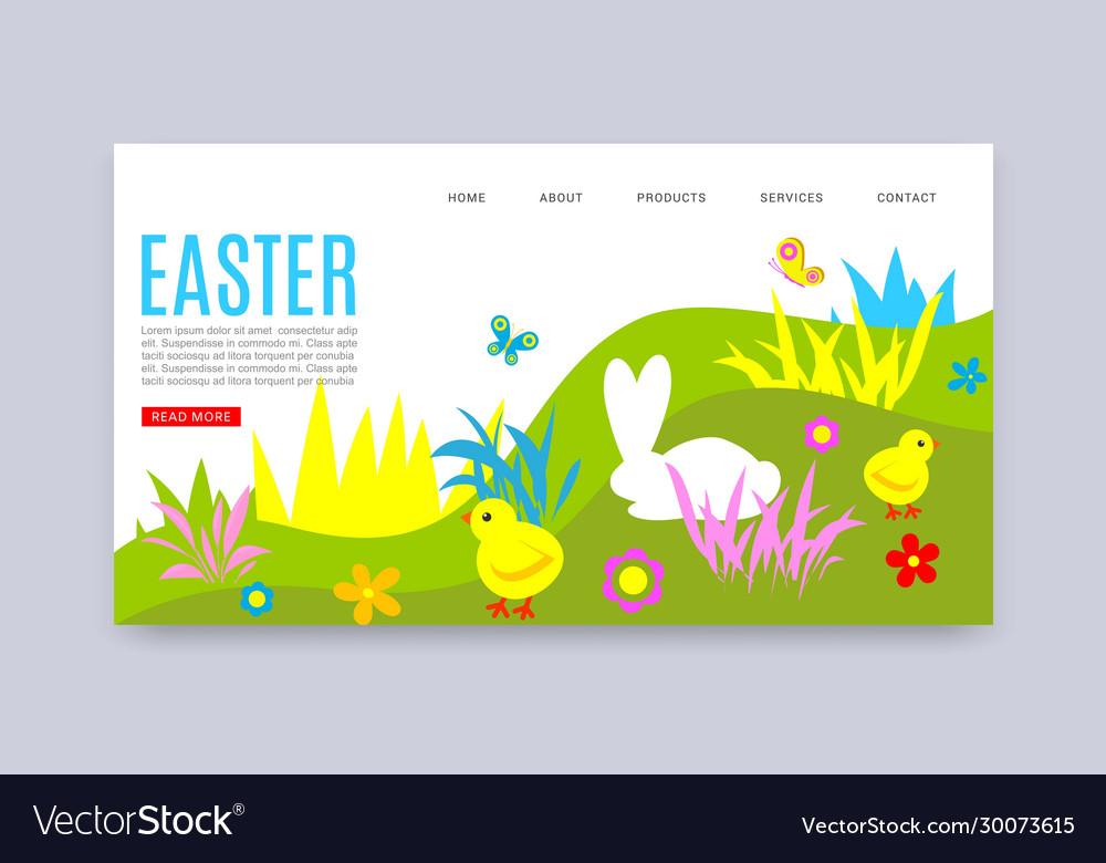 Happy easter website tempale