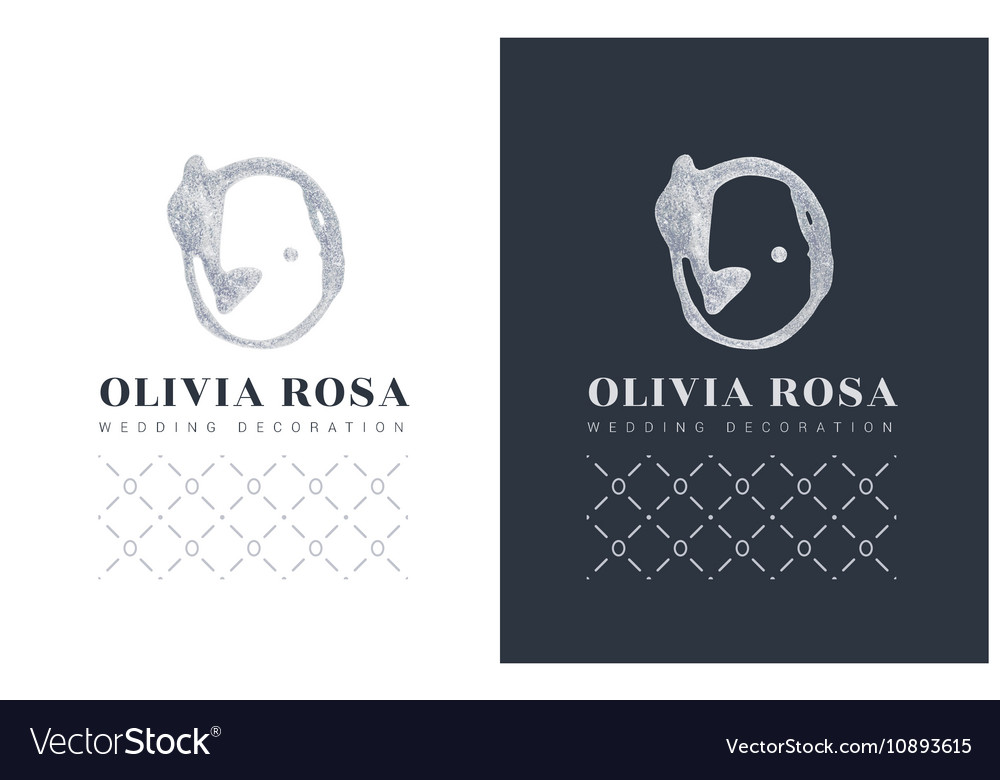 Luxury logo with a stylized letter O on black