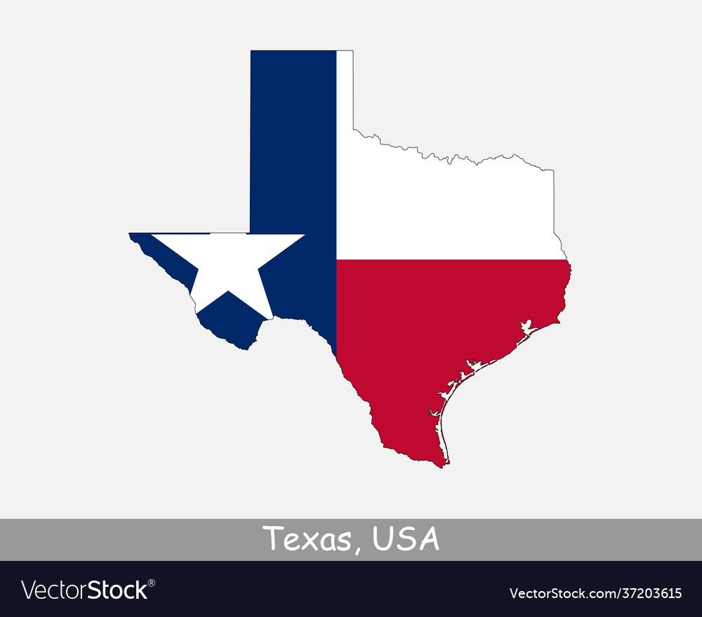 Texas usa map flag