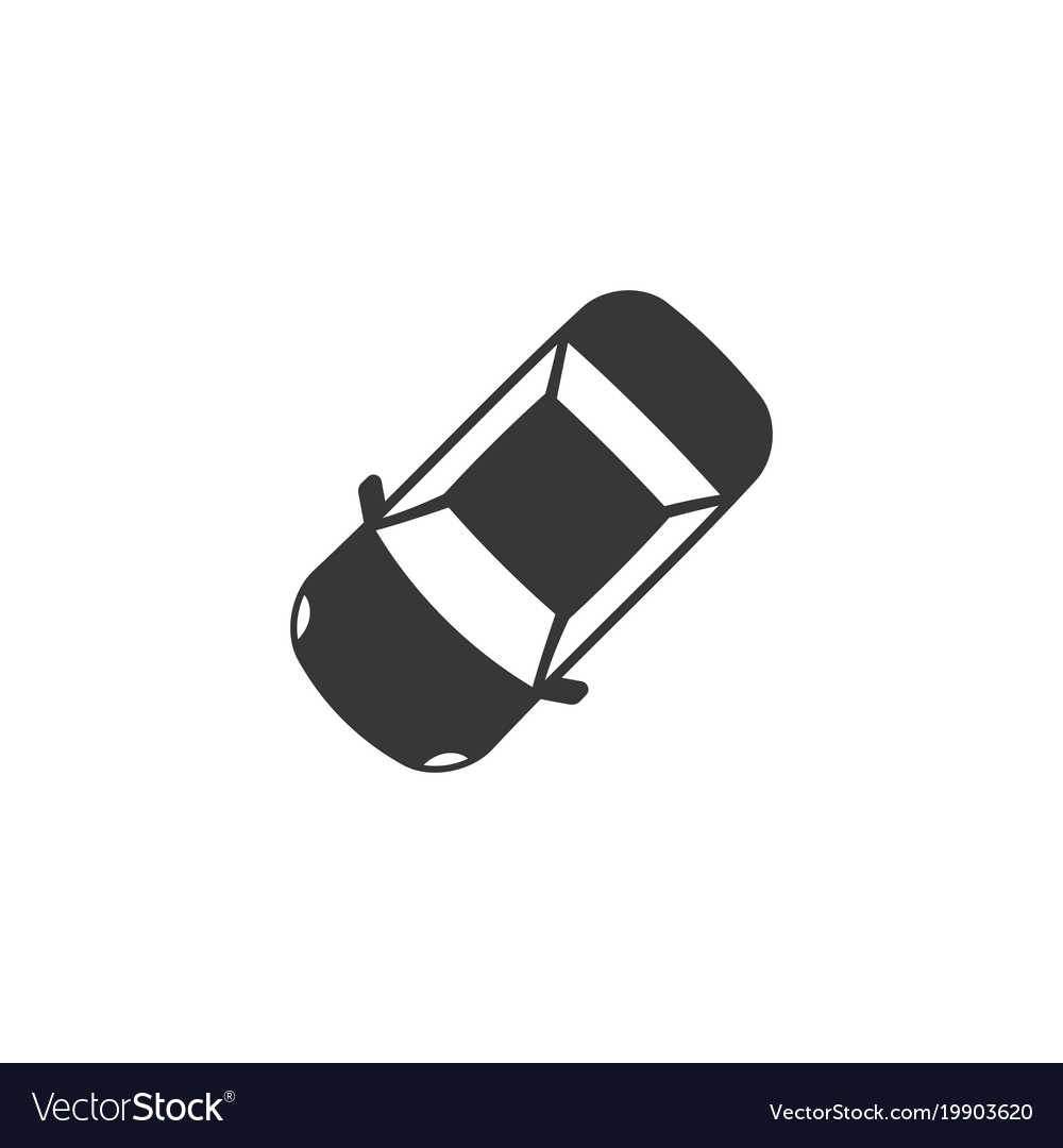 Car Icon Aerial View Silhouette Design Royalty Free Vector